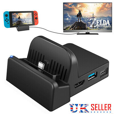 Cooling For Nintendo Switch NS HDMI 4K Adapter TV Charger Charging Dock Stand,UK