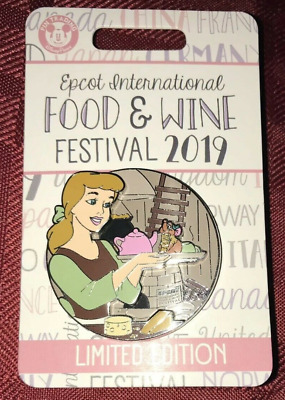 Disney Food & Wine Festival Cinderella Pin LE 4000 2019 Gus Gus and Parks WDW