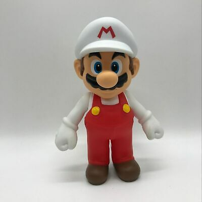 Super Mario Bros. Odyssey Fire Mario Action Figure Vinyl Plastic Toy White 5""