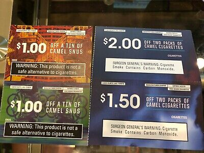 Camel Cigarettes & Snus Coupons - $2 Off Snus & $3.50 Off Packs - Ex.10/31 11/30