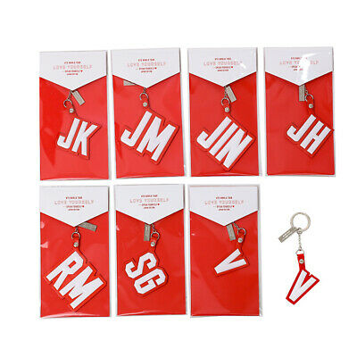 Kpop BTS Love Yourself Speak Yourself Japan World Tour Keychain Name Keyring
