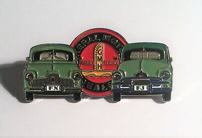 FX, FJ Holden Duo Quality Metal Car Badge, Hat Pin, Lapel Pin, 2 clutches GR/GR