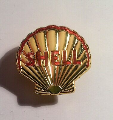 Shell, Oil, Petrol, Badge, Hat Pin, Lapel Pin, 2 clutches, Vintage Gift. Scott M