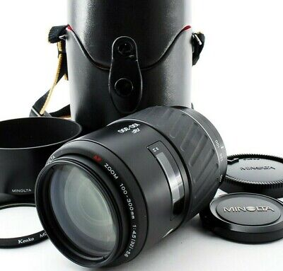 Minolta AF Zoom 100-300mm f/4.5-5.6 Lens for A-mount with Case from JAPAN EXC+++