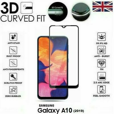 For Samsung Galaxy A10 (2019) 3D Tempered Glass LCD Screen Protector Black