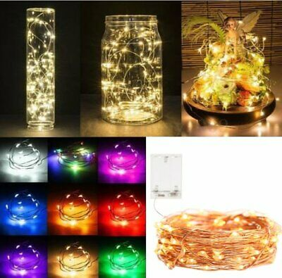 20 30 100LEDs Battery Micro Rice Wire Copper Fairy String Lights Christmas Party