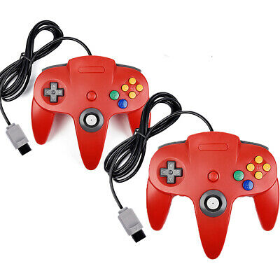 2 Pack N64 Controller Gamepad Joystick for Ultra 64 Video Game Console