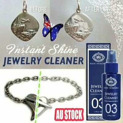 Instant Shine Jewelry Cleaner Silver Necklace Ring Clean Polishing Original  NW