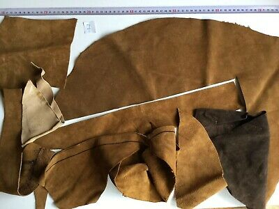 Suede Leather Off-cuts DIY  Remnants Crafts Art Scrapbooking  (450g)
