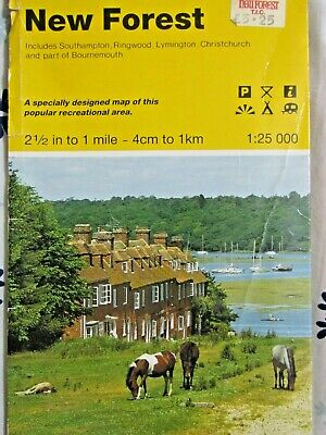 Ordnance Survey    2 1/2  INCH MAP 22   NEW FOREST ; OUTDOOR LEISURE  Circa 1992