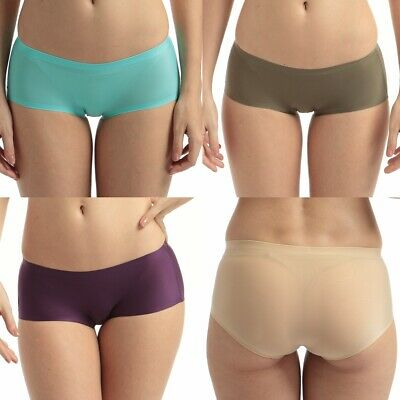 4 Pack Women seamless Underwear Briefs Comfort Lingerie Stretched Panties S M L