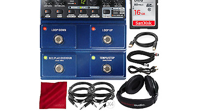 Digitech JamMan Stereo Looper Delay Pedal with 16GB SD Card, Closed-Back Head...