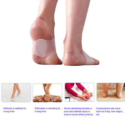 Pedicure foot care arch support gel heel pad`protection sleeve flat pad insoleFU