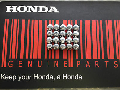 GENUINE HONDA Wheel Nut set, Chromed 25mm Accord, Civic, Jazz, CRV  *FREE POST*