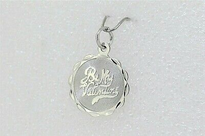 NEW BE MY VALENTINE Pendant Real Solid .925 STERLING SILVER Engrave-able