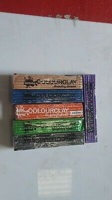 SCOLA COLOUR CLAY/ 6 X 500g sticks, never dries out free p&p