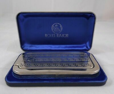Circa 1930s Rolls Razor Sheffield Steel in Original Blue Case Made in England