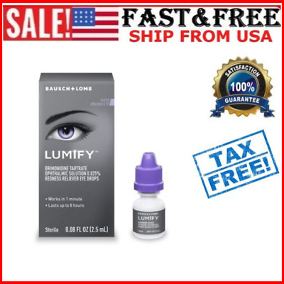 Lomb Lumify Redness Reliever Eye Drops, 0.08 Ounce Bottle 2.5mL
