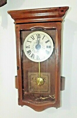 Vintage 1960's New England Clock Company Time Only Wall Clock Runs Great!