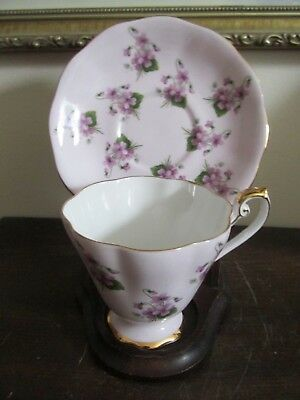 Royal Standard England Bone China  Cup And Saucer Violets