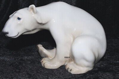 "Bing&Grondahl / Royal Copenhagen Figur #1629  ""Polar Bear Sitting"" Top 1. Wahl"