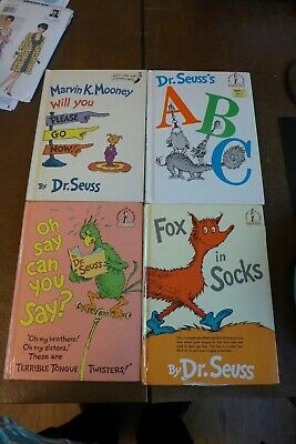 Lot of 4 Dr. Seuss Classic Books Hardcover Good Condition