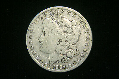 1884 Morgan Dollar, VG Very Good or Better, 90% Silver US Coin, Free Shipping!