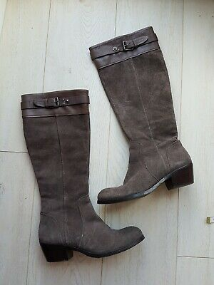 Autograph M&S Ladies Beautiful Brown Suede Leather Boots Uk 5/38