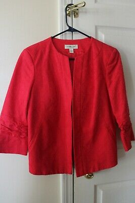 REDUCED! Coldwater Creek red ladies dress jacket size 4 with ruching on sleeves