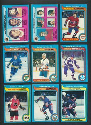 1979-80 OPC Hockey Lot of 289 Cards  O-Pee-Chee Great Condition  Dryden Hull