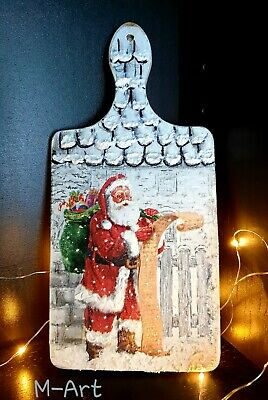 CHRISTMAS DECORATIONS HANDMADE handcrafted decoupage wooden