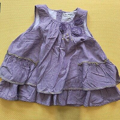 SALE! M&S Lilac 5-6 years Girls Cotton Flowers Top Kids Clothes outfit