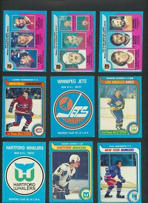 1979-80 OPC Hockey Lot of 256 Cards  O-Pee-Chee  Dryden Jets Whalers Lafleur