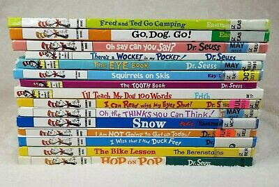 Bright and Early Beginning Books for Beginners Lot By Dr. Seuss Set of 15 HC
