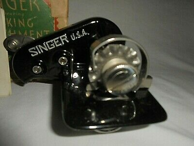 Vintage 1934 Singer ball bearing Pinking attachment No 121021 w/box instructions