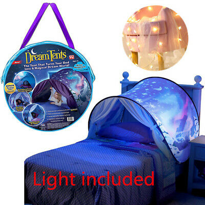 Foldable Magical Tents Snowflower Space Adventure Dream Kid Tent + Star light
