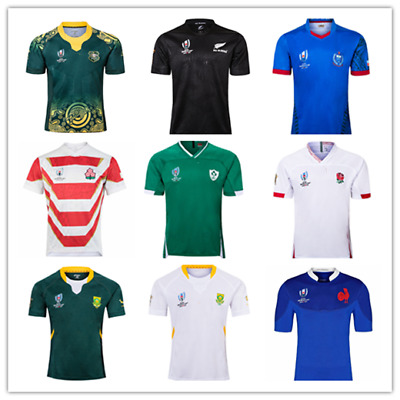 New Rugby World Rugby Jersey Short Sleeve  Australia Ireland France Japan