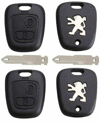 2 x Replacement 2 Button Remote Car Key Fob Case NE73 Blade for Peugeot 106 206