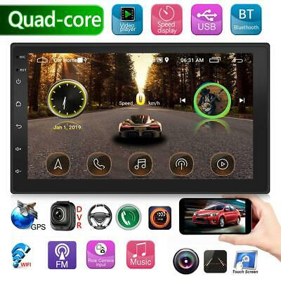 """Double 2 DIN Quadcore Android Car Stereo MP5 Player 7"""" BT GPS WiFi USB FM Radio"""