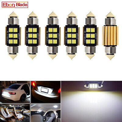 6X 36mm Festoon LED Bulb C5W CANBUS 3030 SMD White Car Interior Dome Map Light
