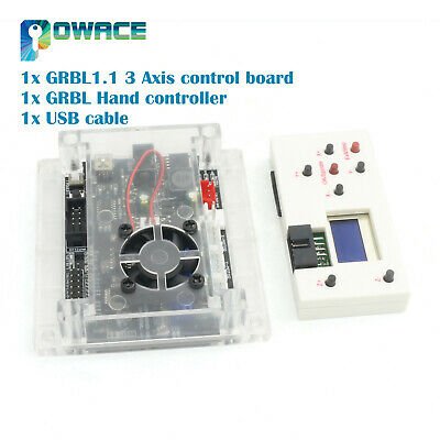 USB 3 Axis GRBL1.1 Control Board for CNC Laser Engraving + GRBL Hand Controller