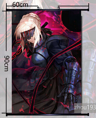 60X90cm Anime Fate Stay Night Saber HD ART Poster Wall Scroll Home Decor Gift #0