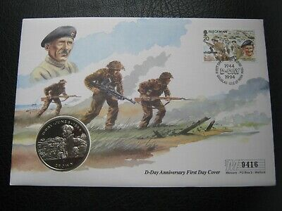 Isle Of Man 1994 UNC Crown Coin WW II D-Day Anniversary ~ General Montgomery FDC