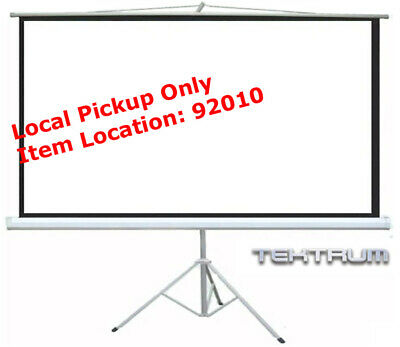 "Tektrum 120"" Diagonal Tripod Portable Projector Projection Extra Wide Screen"