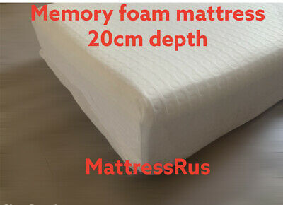 Cool Max  Memory Foam Mattress With Washable Zip Cover 20Cm Depth Various Sizes