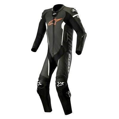 Alpinestars Missile Black White Tech Air Compatible 1PC Leather Motorcycle Suit