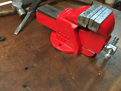 """Vintage Dawn Bench Vice 3 1/2"""" Jaw Heavy Duty Australian Made Engineering Tools"""