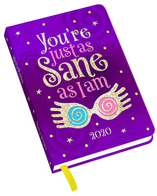 Harry Potter Luna Lovegood 2020 Diary With Holographic Cover - A6 Week to View