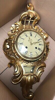 ANTIQUE CARTEL WOODEN CLOCK WESTERSTRAND SWEDEN CENTRE Gosuenson