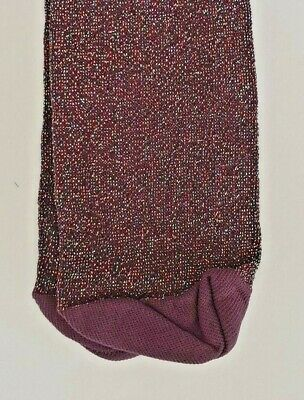 Girls Dark Purple Sparkley Tights, age 5-6